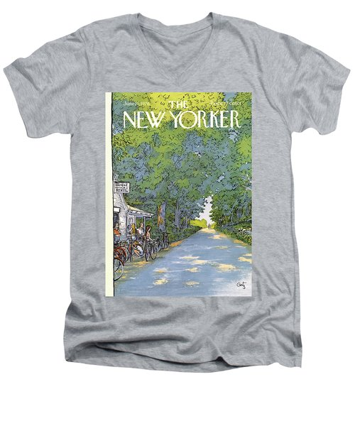 New Yorker June 21st, 1976 Men's V-Neck T-Shirt