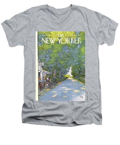 New Yorker June 21st, 1976 Men's V-Neck T-Shirt