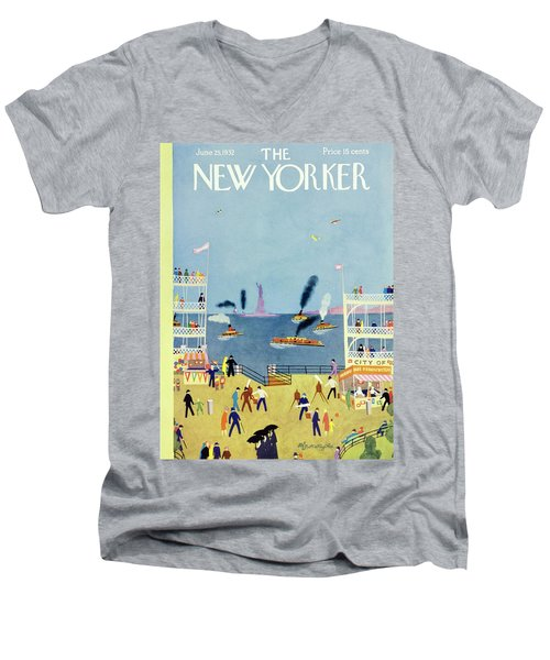 New Yorker June 25 1932 Men's V-Neck T-Shirt