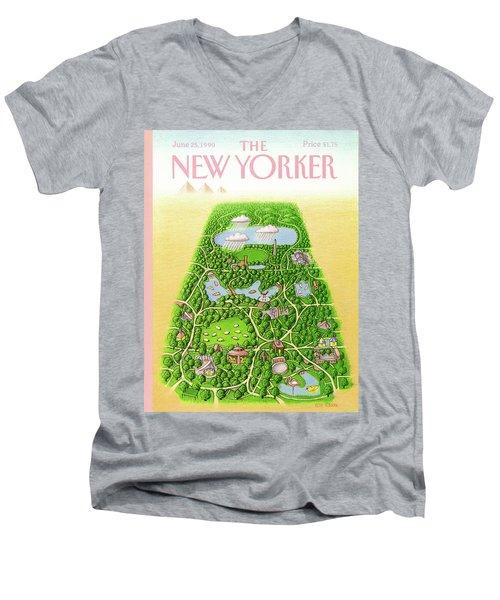 New Yorker June 25th, 1990 Men's V-Neck T-Shirt