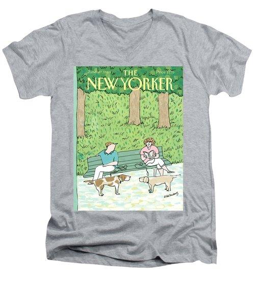 New Yorker June 27th, 1988 Men's V-Neck T-Shirt
