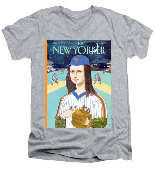 New Yorker June 3rd, 1991 Men's V-Neck T-Shirt