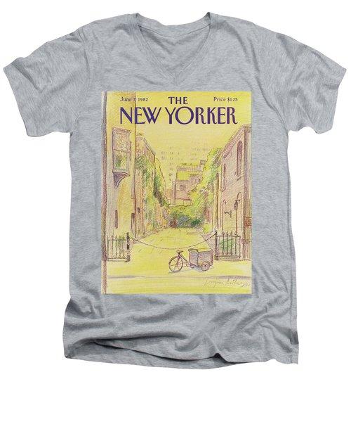 New Yorker June 7th, 1982 Men's V-Neck T-Shirt