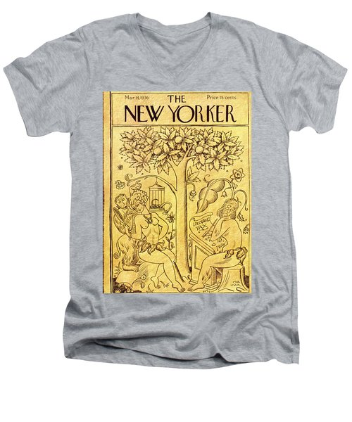 New Yorker March 14 1936 Men's V-Neck T-Shirt