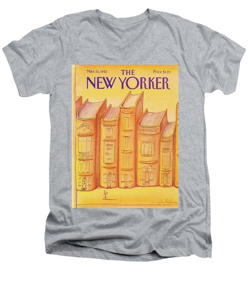 New Yorker March 15th, 1982 Men's V-Neck T-Shirt