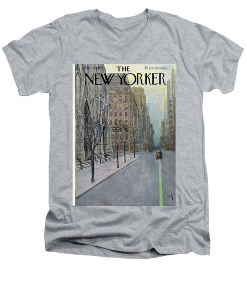 New Yorker March 16th, 1957 Men's V-Neck T-Shirt