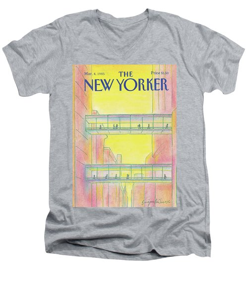 New Yorker March 4th, 1985 Men's V-Neck T-Shirt