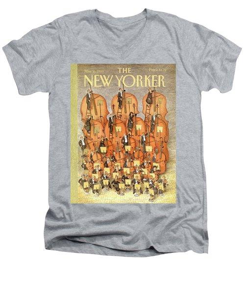 New Yorker March 6th, 1989 Men's V-Neck T-Shirt