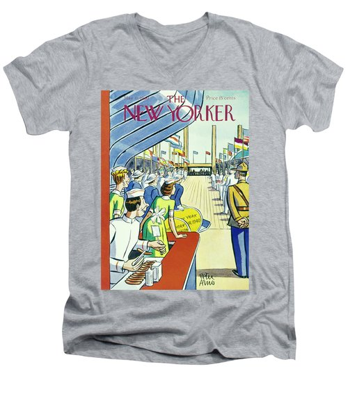 New Yorker May 11 1940 Men's V-Neck T-Shirt
