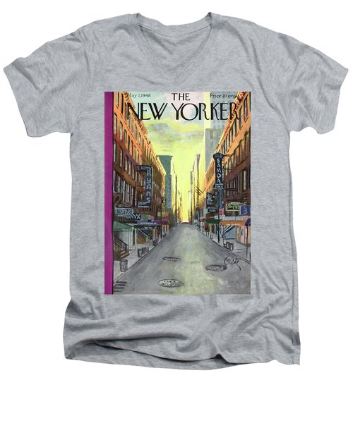 New Yorker May 1st, 1948 Men's V-Neck T-Shirt