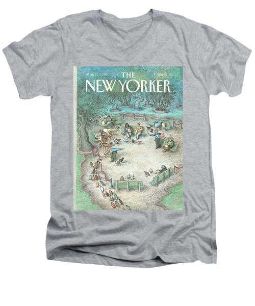 New Yorker May 27th, 1991 Men's V-Neck T-Shirt