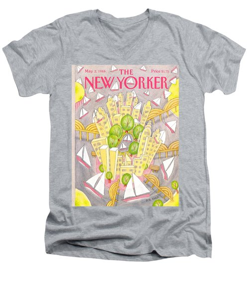 New Yorker May 2nd, 1988 Men's V-Neck T-Shirt