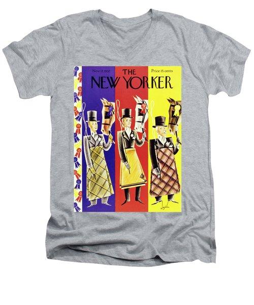 New Yorker November 12 1932 Men's V-Neck T-Shirt