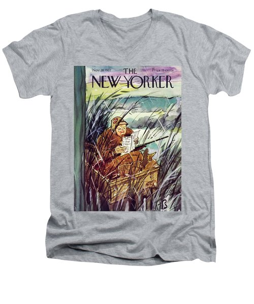 New Yorker November 20 1937 Men's V-Neck T-Shirt