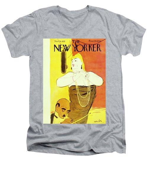 New Yorker November 26 1932 Men's V-Neck T-Shirt