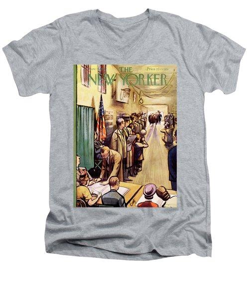 New Yorker November 4th, 1950 Men's V-Neck T-Shirt