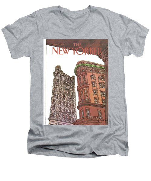 New Yorker November 9th, 1981 Men's V-Neck T-Shirt