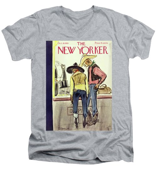 New Yorker October 19 1935 Men's V-Neck T-Shirt