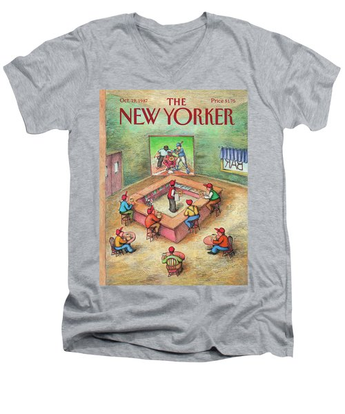 New Yorker October 19th, 1987 Men's V-Neck T-Shirt