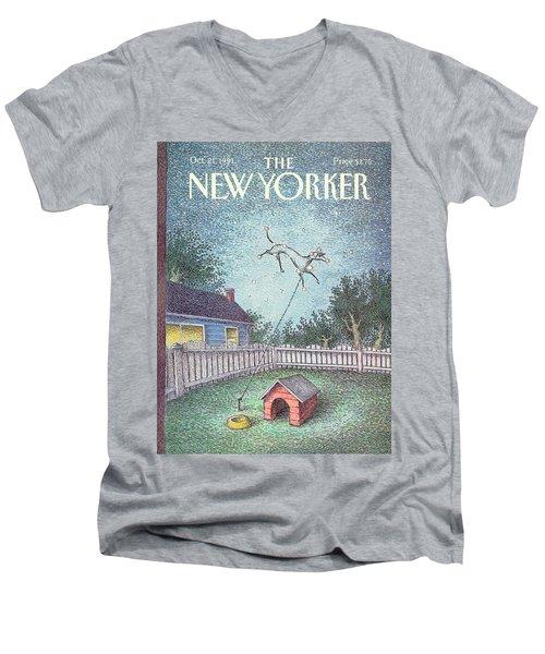 New Yorker October 21st, 1991 Men's V-Neck T-Shirt