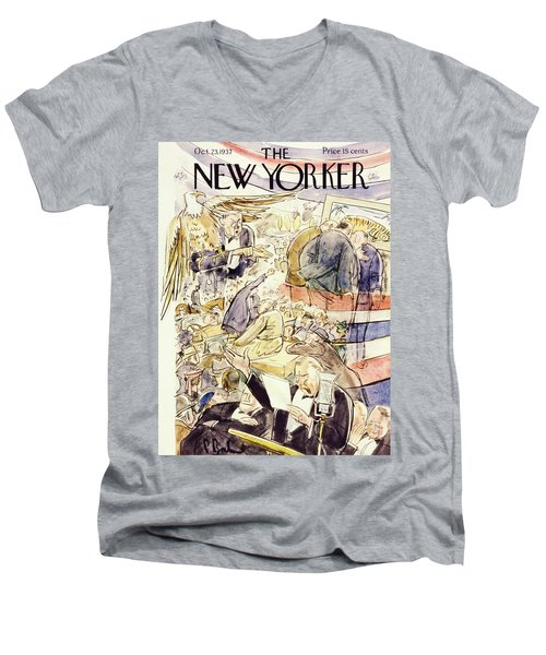 New Yorker October 23 1937 Men's V-Neck T-Shirt