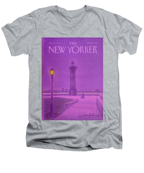New Yorker October 27th, 1986 Men's V-Neck T-Shirt