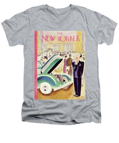 New Yorker October 30 1937 Men's V-Neck T-Shirt