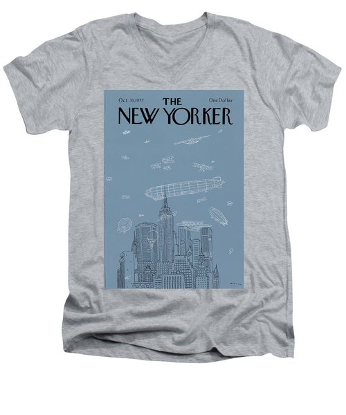 New Yorker October 31st, 1977 Men's V-Neck T-Shirt