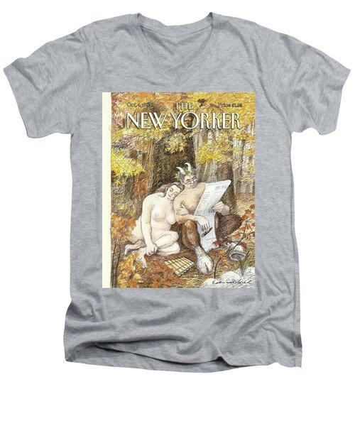 New Yorker October 4th, 1993 Men's V-Neck T-Shirt