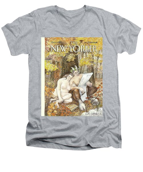 New Yorker October 4th, 1993 Men's V-Neck T-Shirt