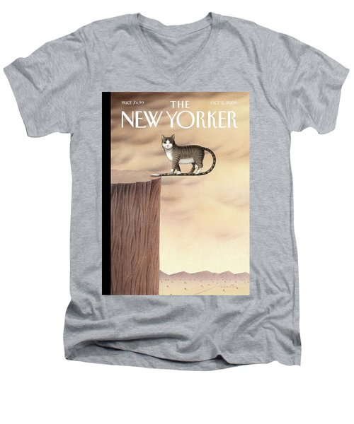 New Yorker October 5th, 2009 Men's V-Neck T-Shirt