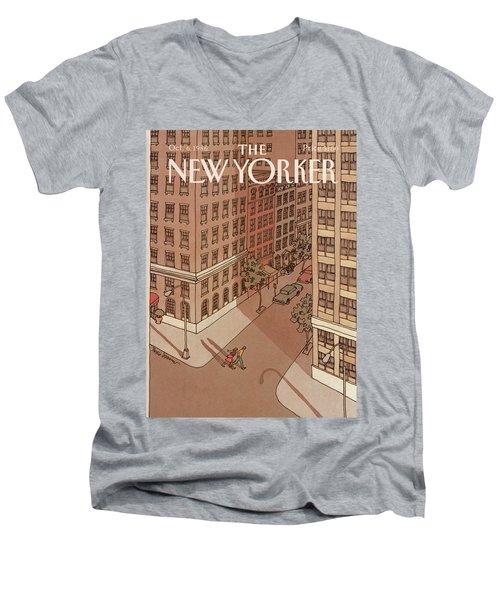New Yorker October 6th, 1986 Men's V-Neck T-Shirt