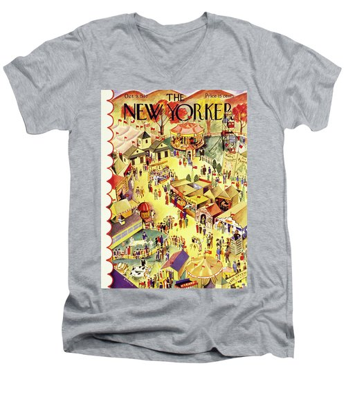 New Yorker October 9 1937 Men's V-Neck T-Shirt