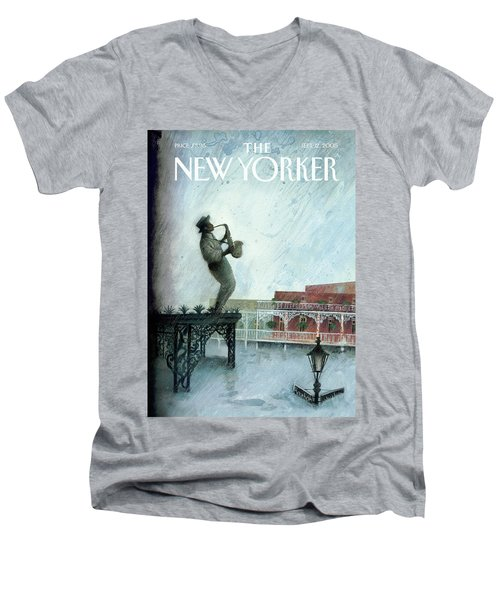 New Yorker September 12th, 2005 Men's V-Neck T-Shirt