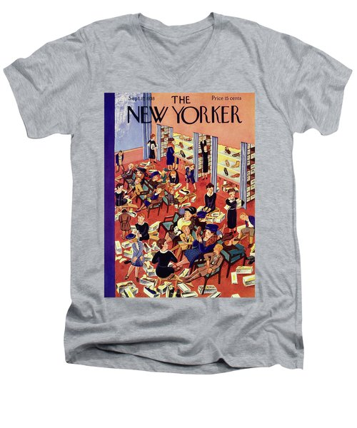 New Yorker September 17 1938 Men's V-Neck T-Shirt