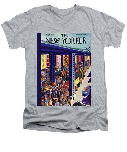 New Yorker September 21 1935 Men's V-Neck T-Shirt