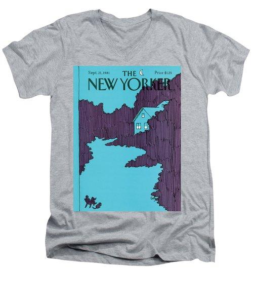 New Yorker September 21st, 1981 Men's V-Neck T-Shirt