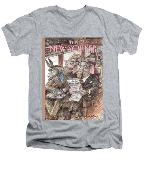 New Yorker September 28th, 1998 Men's V-Neck T-Shirt