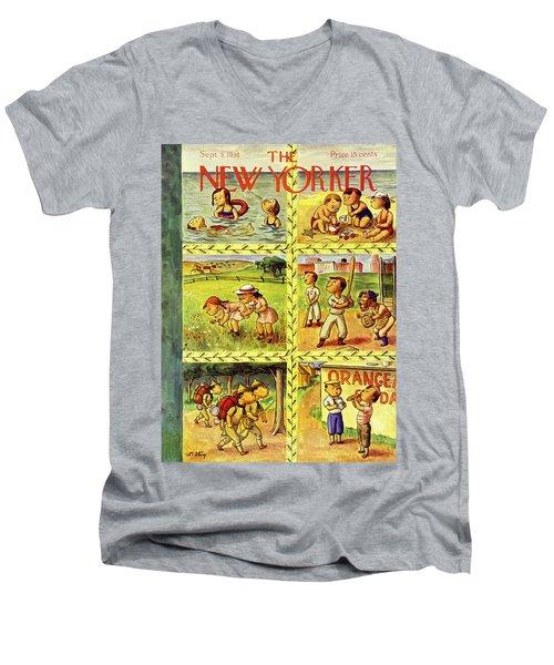 New Yorker September 3 1938 Men's V-Neck T-Shirt