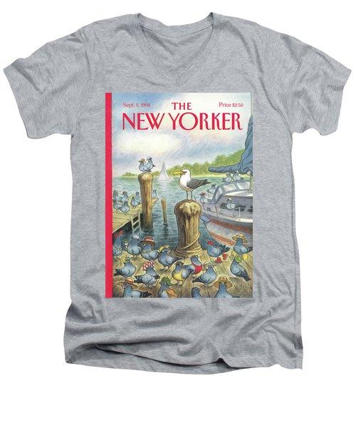 New Yorker September 5th, 1994 Men's V-Neck T-Shirt