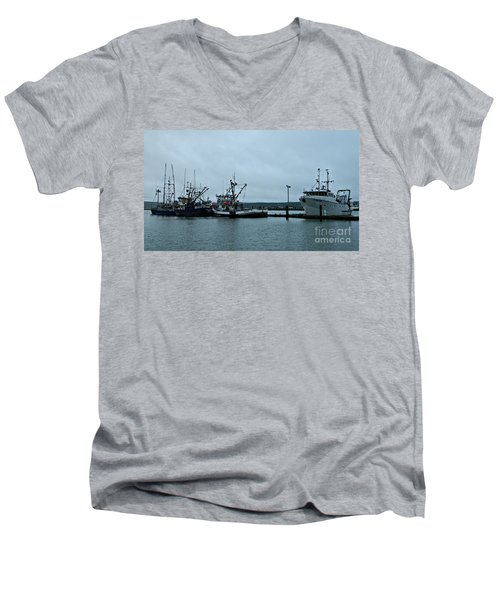 Newport Fishing Boats Men's V-Neck T-Shirt by Chalet Roome-Rigdon