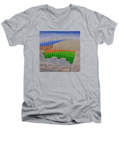 Ney York Cityscape Men's V-Neck T-Shirt