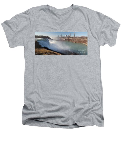 Niagara Falls Panorama Men's V-Neck T-Shirt