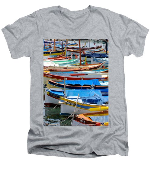Nice Boats  Men's V-Neck T-Shirt by Suzanne Oesterling