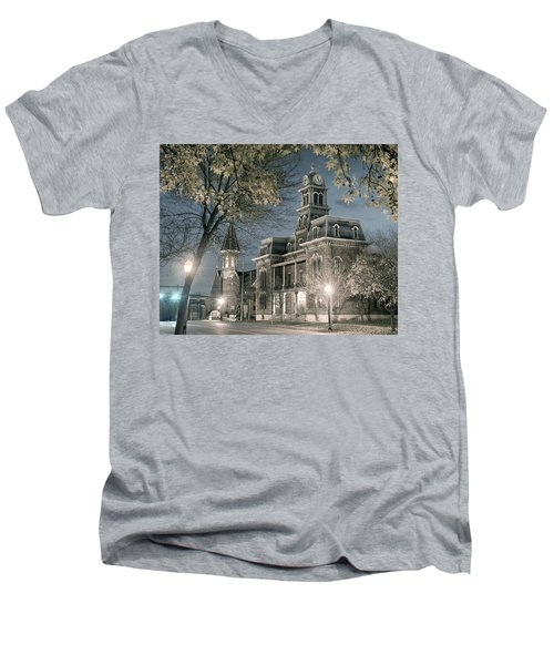 Night Court Men's V-Neck T-Shirt by William Beuther