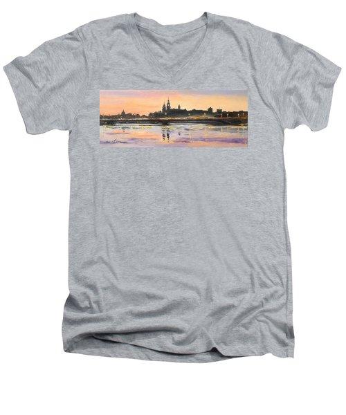 Night In Krakow Men's V-Neck T-Shirt