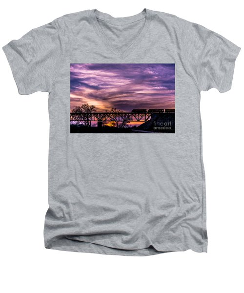 Night Train Men's V-Neck T-Shirt