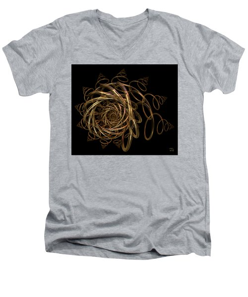 Men's V-Neck T-Shirt featuring the digital art Nightfall by Manny Lorenzo