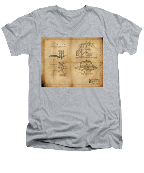 Nikola Telsa's Work Men's V-Neck T-Shirt