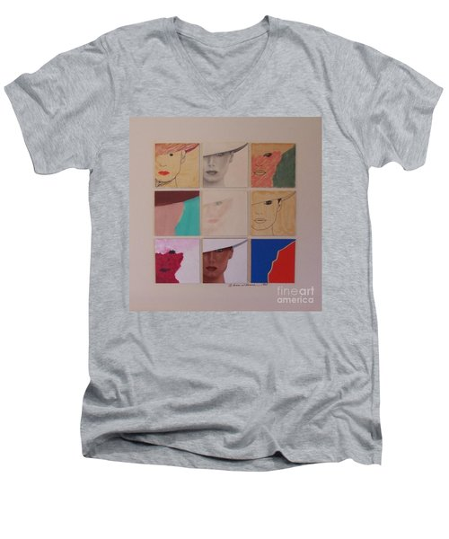 Nine Ladies Lolling Men's V-Neck T-Shirt by Susan Williams